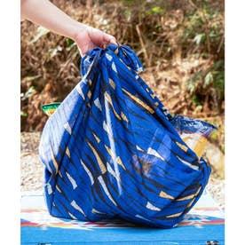【チャイハネ】アフリカン幾何学柄 大風呂敷 ブルー