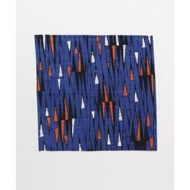 【チャイハネ】アフリカン幾何学柄 小風呂敷 ブルー