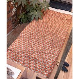 【チャイハネ】アフリカン幾何学柄ループ付きベッドカバー マルチクロス レッド