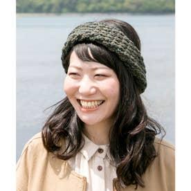 【チャイハネ】ダンデニットヘアバンド カーキ