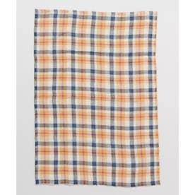 【チャイハネ】イタワ織りチェック柄マルチクロス Sサイズ オレンジ