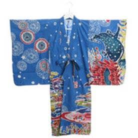 【チャイハネ】ユートピアキッズ浴衣110cm ブルー