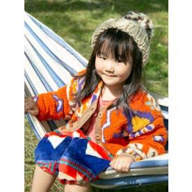 【チャイハネ】マラケシュボアKIDSジャケット110cm リバーシブル オレンジ