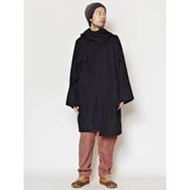 【チャイハネ】コサックマント / ネパールコットンショール付きコート ブラック