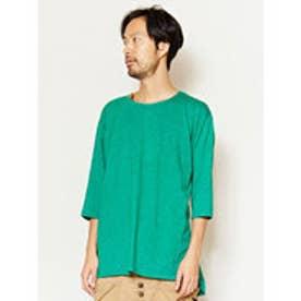 【チャイハネ】yul 無地スラブ プレーンメンズTシャツ グリーン
