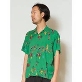 【チャイハネ】メキシカン柄MEN'Sアロハシャツ グリーン