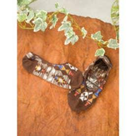 【チャイハネ】トルコ・キリム柄カバーソックス25~28cm ブラウン
