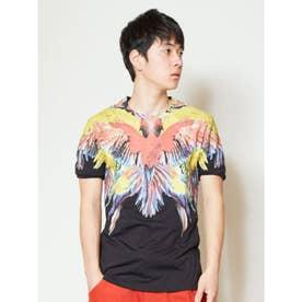 【チャイハネ】アニマルプリントブラックメンズTシャツ その他1