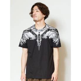 【チャイハネ】アニマルプリントブラックメンズTシャツ その他3
