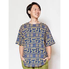 【チャイハネ】ポリネティブメンズTシャツ イエロー