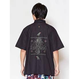 【チャイハネ】グアジャベラ刺繍MEN'Sシャツ ブラック