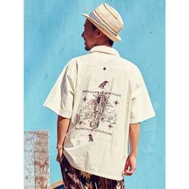 【チャイハネ】グアジャベラ刺繍MEN'Sシャツ ホワイト