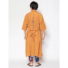 【チャイハネ】グアジャベラ刺繍MEN'Sロングカーディガン キャメル