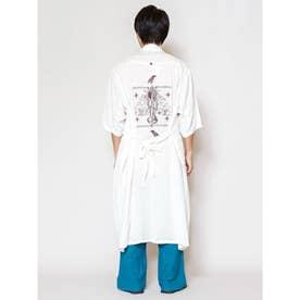 【チャイハネ】グアジャベラ刺繍MEN'Sロングカーディガン ホワイト