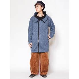 【チャイハネ】yul 変形フードMEN'Sジャケット ブルー