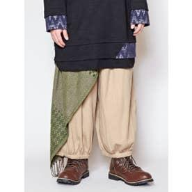 【チャイハネ】yul ジャガード織り変形MEN'Sパンツ ベージュ