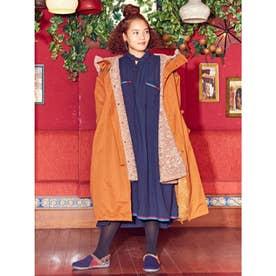 【チャイハネ】バック刺繍ボアMEN'Sフードコート ブラウン