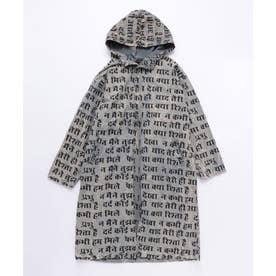 【チャイハネ】yul ネパール語プリントMEN'Sフードコート ブラック