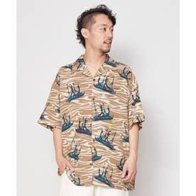 【チャイハネ】ホクレアMEN'Sシャツ ブラウン