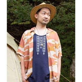 【チャイハネ】プエブロMEN'Sシャツ ブラウン