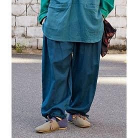 【チャイハネ】キャニオンカラビナバンダナ付きMEN'Sパンツ ブルー
