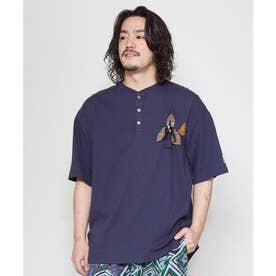 【チャイハネ】grn×Amina ココペリメンズTシャツ ネイビー