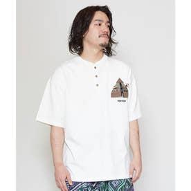 【チャイハネ】grn×Amina ココペリメンズTシャツ ホワイト