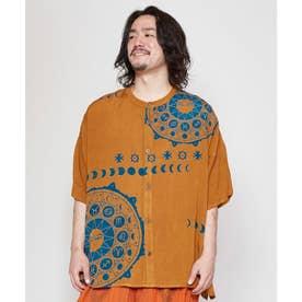 【チャイハネ】サンムーンMEN'Sシャツ オレンジ