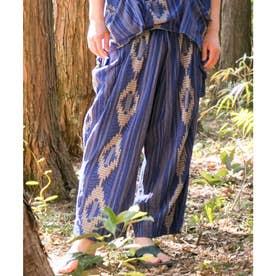 【チャイハネ】南インドの織り布 サハラMEN'Sパンツ ブルー
