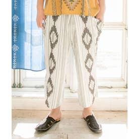 【チャイハネ】南インドの織り布 サハラMEN'Sパンツ ホワイト