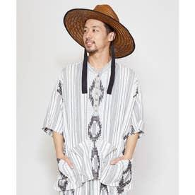 【チャイハネ】南インドの織り布 サハラMEN'Sトップス ホワイト