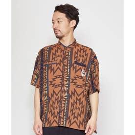 【チャイハネ】グラウンドMEN'Sバンドカラーシャツ ベージュ