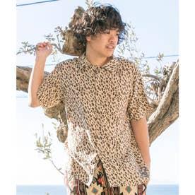 【チャイハネ】ジャングルMEN'Sシャツ ベージュ