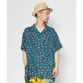 【チャイハネ】ジャングルMEN'Sシャツ グリーン