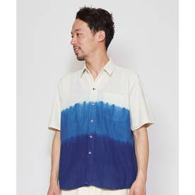 【チャイハネ】タイコットン藍染MEN'Sシャツ ホワイト
