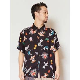 【チャイハネ】メキシカン柄MEN'Sアロハシャツ ブラック