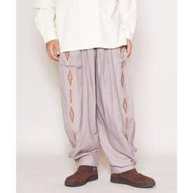 【チャイハネ】ネイティブ柄刺繍MEN'Sパンツ グレー