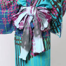 【チャイハネ】ボーンタイダイ浴衣帯 ブルー