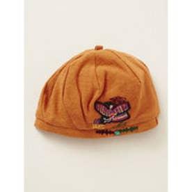 【チャイハネ】モラ風刺繍ベレー帽 オレンジ