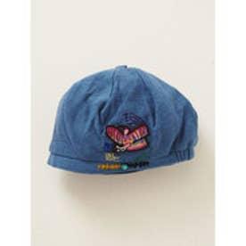 【チャイハネ】モラ風刺繍ベレー帽 ブルー