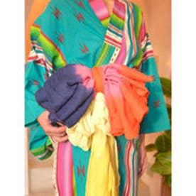【チャイハネ】インド綿グラデーション浴衣帯 レッド