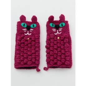 【チャイハネ】ニャングローブ もこもこ猫手袋 ピンク