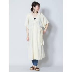 【チャイハネ】刺繍カシュクールワンピース ホワイト