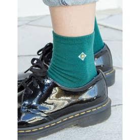 【欧州航路】ポルトガルタイル柄刺繍ミドルソックス グリーン