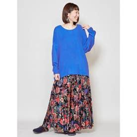 【チャイハネ】yul バック刺繍ハイローヘムワンピース ブルー