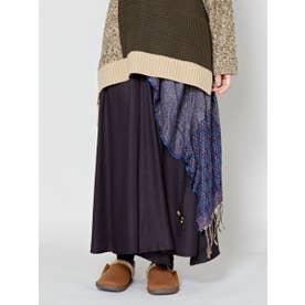 【チャイハネ】yul ジャガード織り変形ワイドパンツ ブラック
