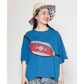 【チャイハネ】grn×Amina ショダーTシャツ ブルー