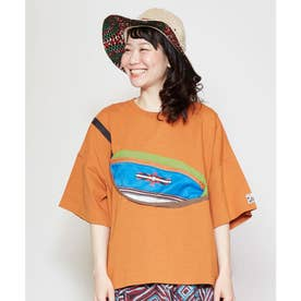 【チャイハネ】grn×Amina ショダーTシャツ オレンジ