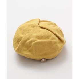 【欧州航路】チェコボタンブローチ付きベレー帽 イエロー