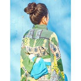 【チャイハネ】グラデーションタイダイ浴衣帯 グリーン